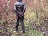 Amateurvideo Rückkehr aus dem Wald (in Handschellen) from bondageangel