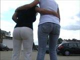 Amateurvideo Unterwegs in die Jeans gepisst von BarbaraBach