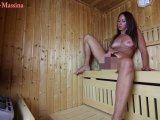 Amateurvideo Squirt Piss Fotzenschleim Sauna-Aufguss: Massina-Deluxe von Annabel_Massina