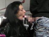 Amateurvideo Öffentlich im  Parkhaus deepthroat abgeschluckt! von Nasse_Laila
