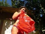 Amateurvideo Rettungsweste und Schwimmfügel aufblasen im PVC Höschen from sexyalina